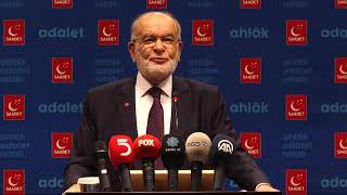 SAADET PARTİSİ GENEL BAŞKANI TEMEL KARAMOLLAOĞLU 07/11/2018 BASIN AÇIKLAMASI