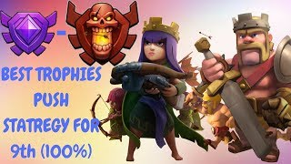 clash of clans th9 (Crystal to Champion League) -Trophies Pushing Strategy
