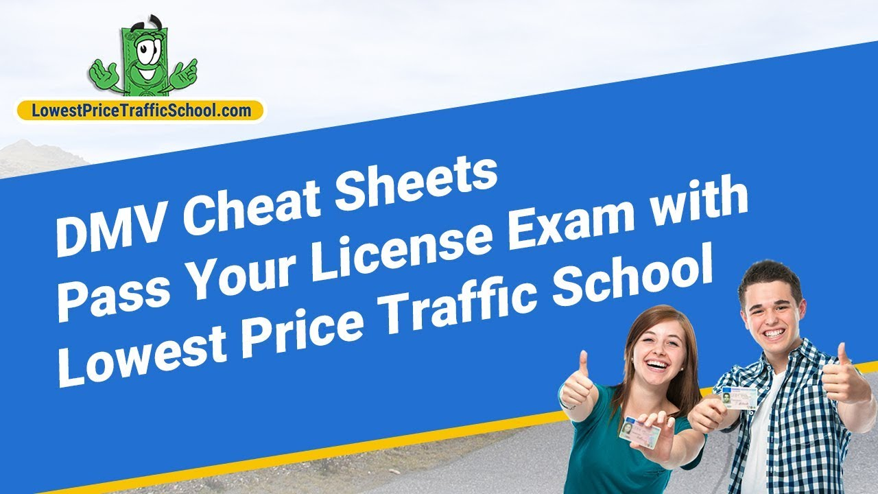 Dmv Cheat Sheets Pass Your License Exam With Lowest Price Traffic