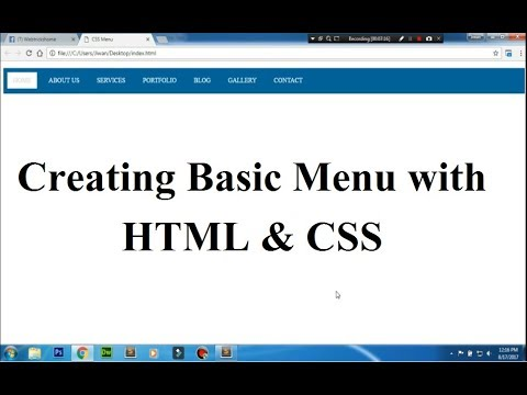 how to create basic menu in css?