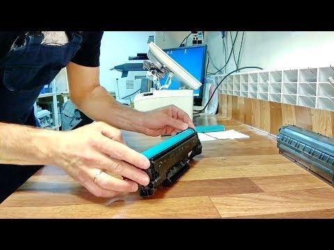 HP M15 / M28 мажет, грязная печать | HP CF244 барабан