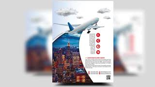 Travel Agency Flyer design | Photoshop Tutorials
