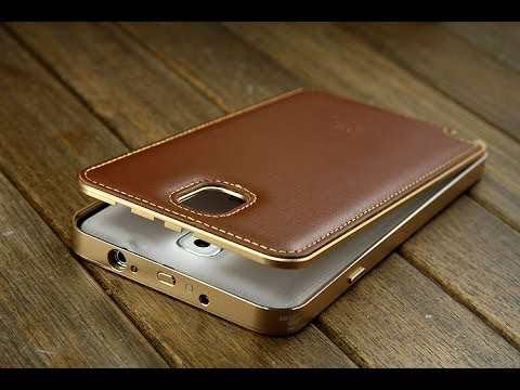 Samsung Galaxy Note 3 Leather Metal Bumper Case - YouTube