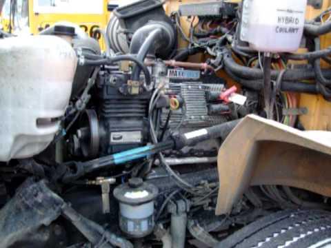 Bus Engine Compartment Diagram 1993 F150 School International Diesel Maxxforce 6.4 Liter - Youtube