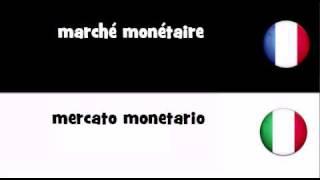 TRADUCTION EN 20 LANGUES = marché monétaire