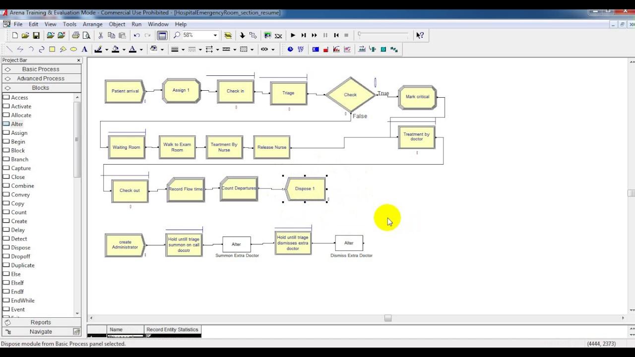 arena simulation example