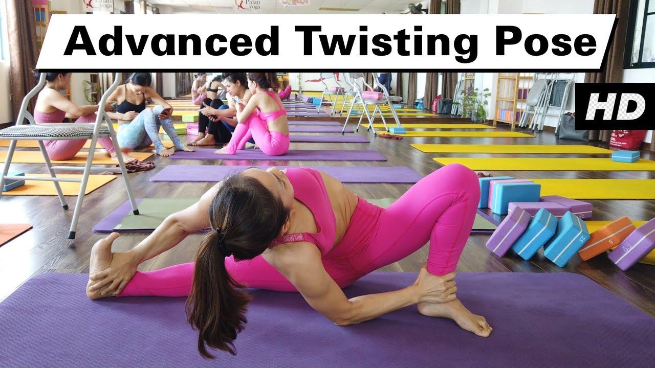Advanced Twisting Yoga Pose Raja Gupta Yoga Class Yograja Youtube