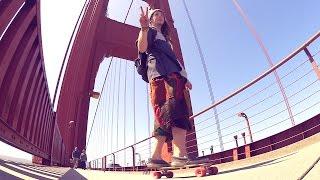 Mit dem LONGBOARD über die GOLDEN GATE BRIDGE! | unge