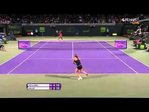 Serena Williams vs Simona Halep Highlights HD MIAMI 2015