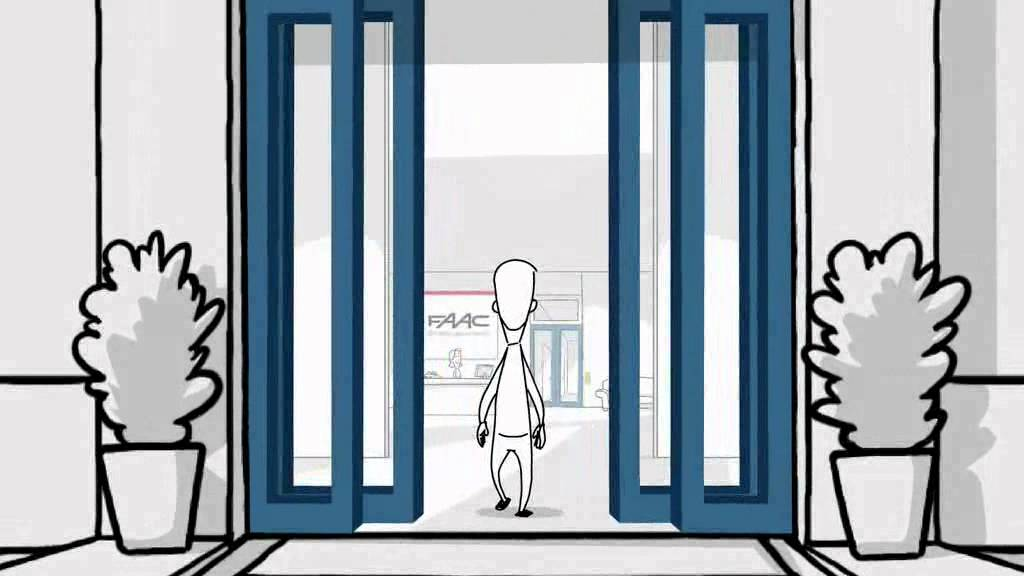 Door cartoon glorious frame a vector illustration