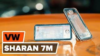 Cómo cambiarla luz de la matrícula en VW SHARAN 7M [INSTRUCCIÓN]