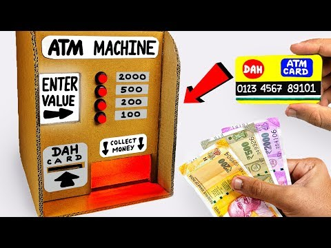 How to make ATM Machine from Cardboard DIY Science Project f