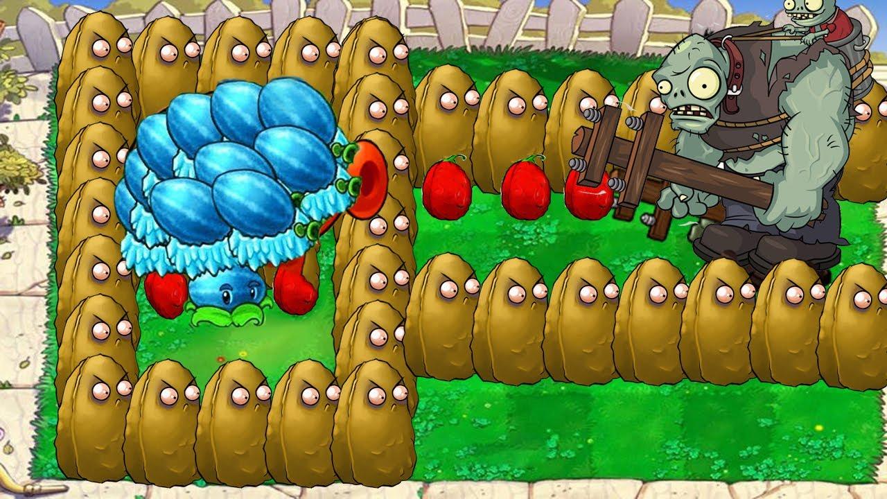 99 Tall Nut vs 99 Winter Melon vs Dr. Zomboss | Plants vs Zombies