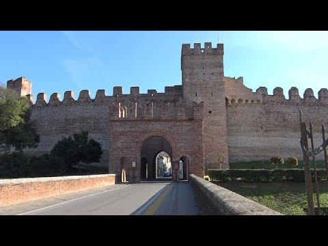 Cittadella provincia di  Padova. Italy in 4K