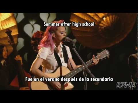 Katy Perry - The One That Got Away HD Live Subtitulado Español English Lyrics