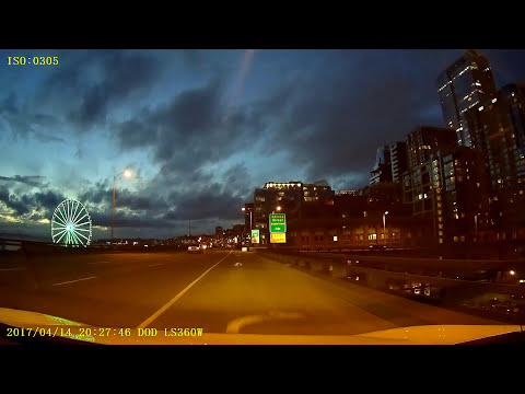 Driving in Seattle #7 (Night mode)