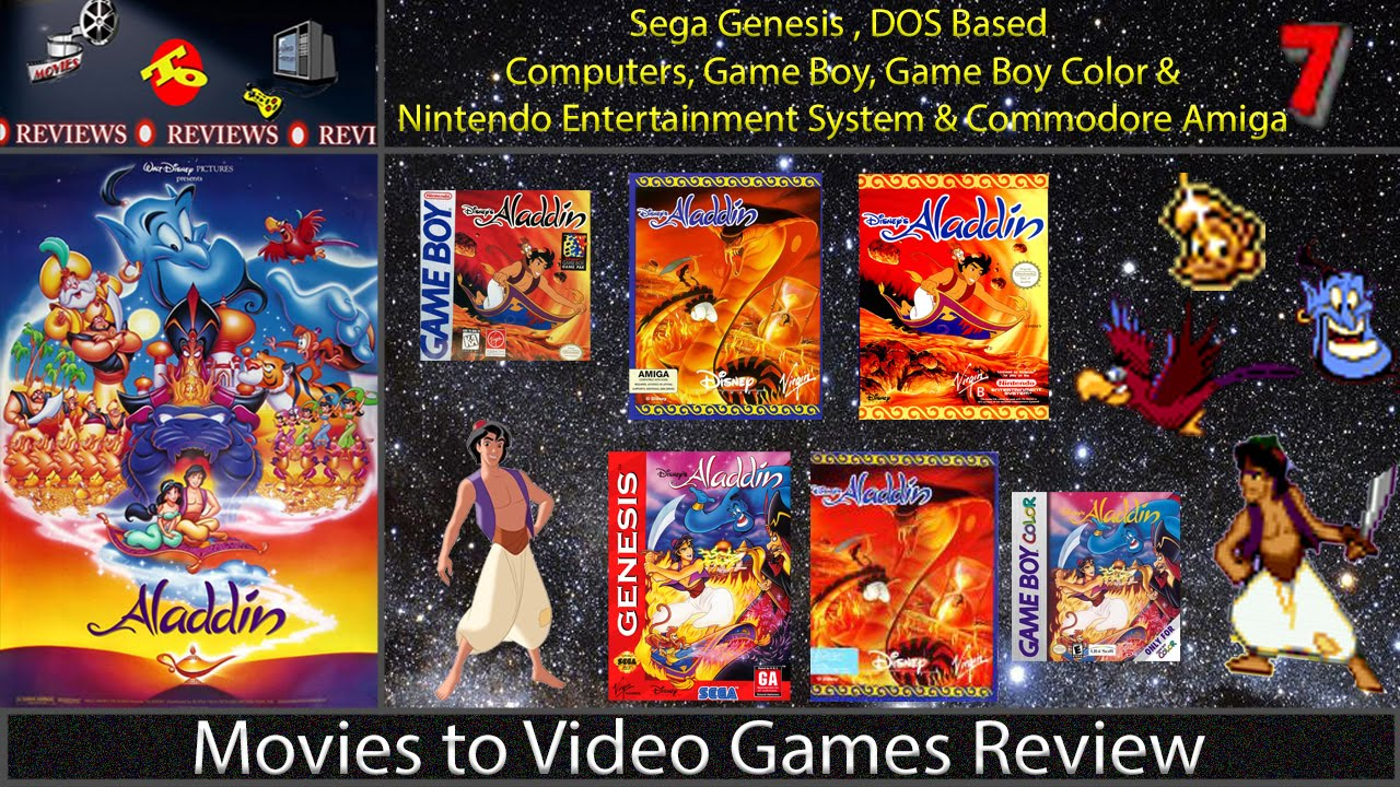 Movies To Video Games Review Aladdin Gen Dos Amiga