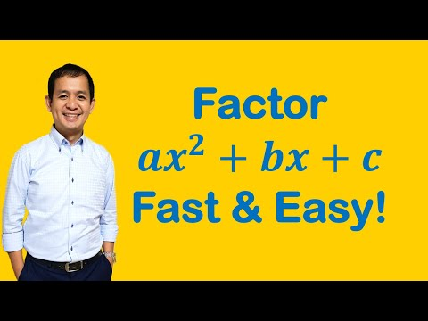 Algebra: Factor Ax^2+bx+c Fast And Easy