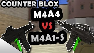 M4A4 VS M4A1-S! - ROBLOX COUNTER BLOX