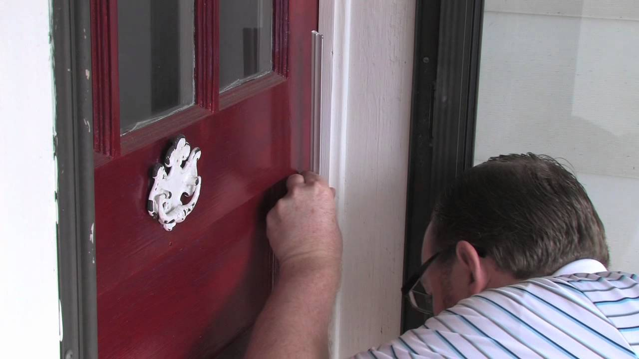 & How to Install a Door Top and Side - YouTube