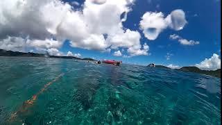 2017年7月23日シーカヤックに乗ってサンゴの海へ。シュノーケルも楽しん...