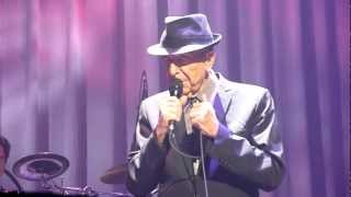 Leonard Cohen - Anyhow (with cigarette story) - The Louisville Palace - 30-03-2013