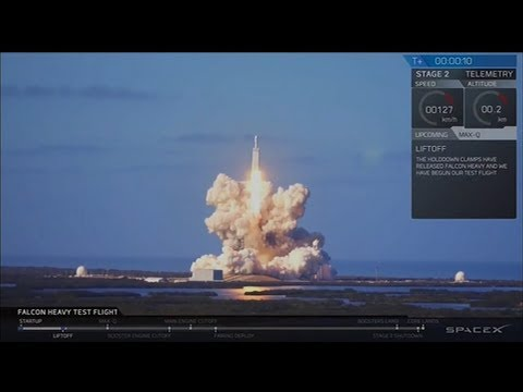 SpaceX Falcon Heavy Launch:  Rocket to make  its first trip into orbit | ABC News