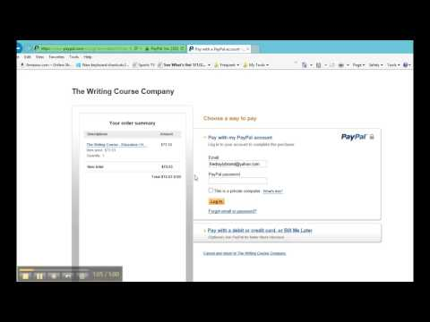 Paying with Credit Card on PayPal