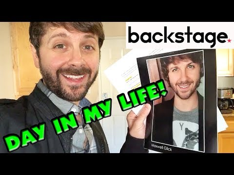 Backstage with Me! A Day In My Life As An Actor!