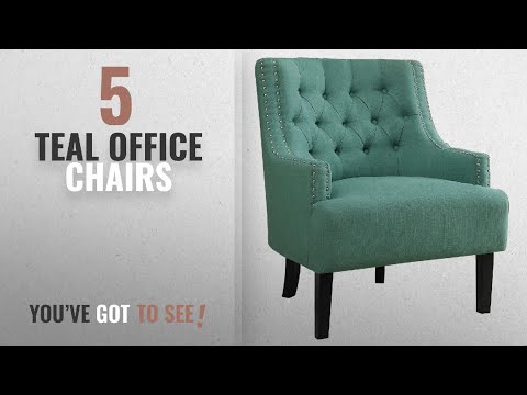 Top 10 Teal Office Chairs [2018]: Homelegance Charisma Fabric Uphostered Accent Chair, Teal