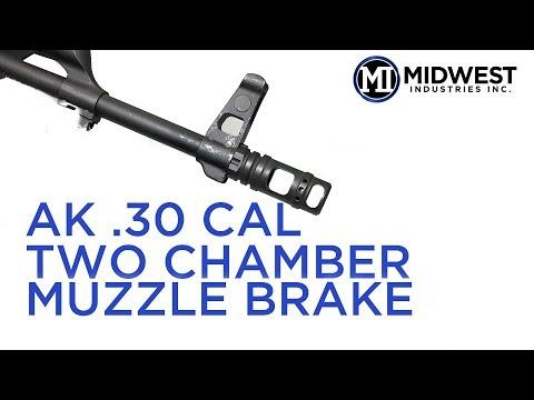 MI-MB6 MI AK  30 Cal Two Chamber Muzzle Brake