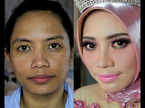 Tips make up wedding untuk wajah berlubang - Mipmop