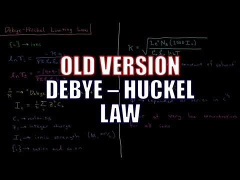 Chemical Thermodynamics 9.7 - Debye-Huckel Law (Old Version)