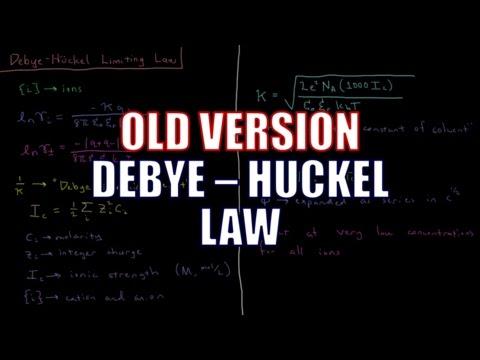 Chemical Thermodynamics - Debye-Huckel Law (Old Version)