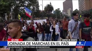 Avanza nueva jornada de marchas en Bogotá