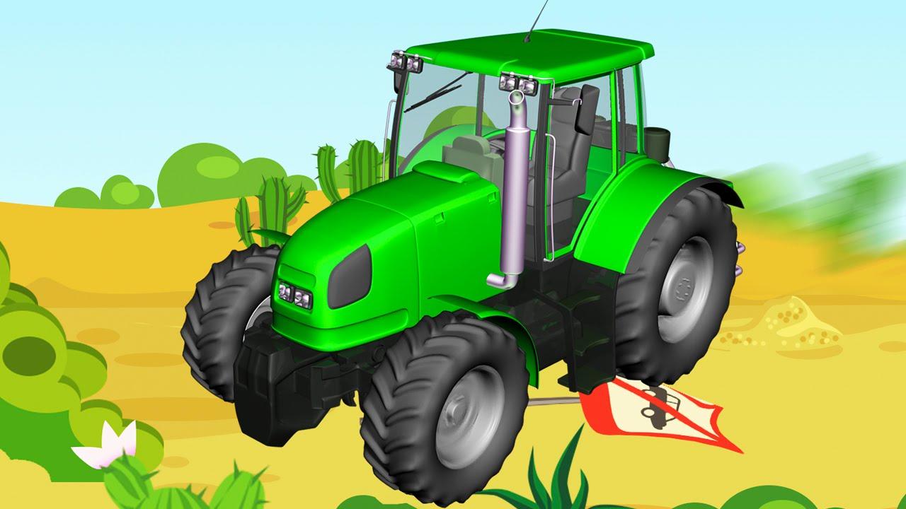 Jeu d 39 assemblage tracteur vert et camion voitures de - Jeu de tracteur agricole gratuit ...