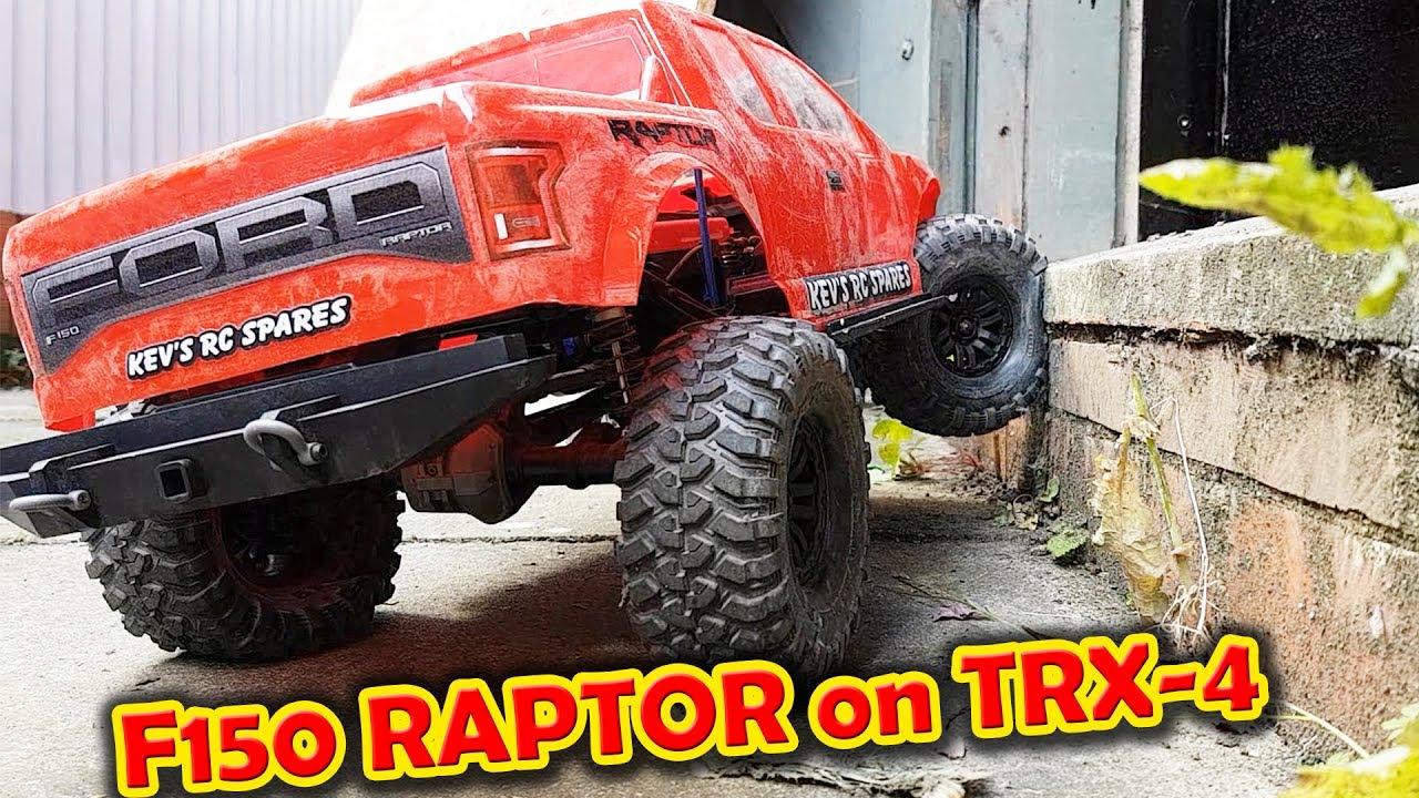 Ford F150 Raptor Body On Traxxas Trx 4 And Crawling Test