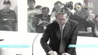 Juez pone en su lugar a ex-dictador alberto fujimori