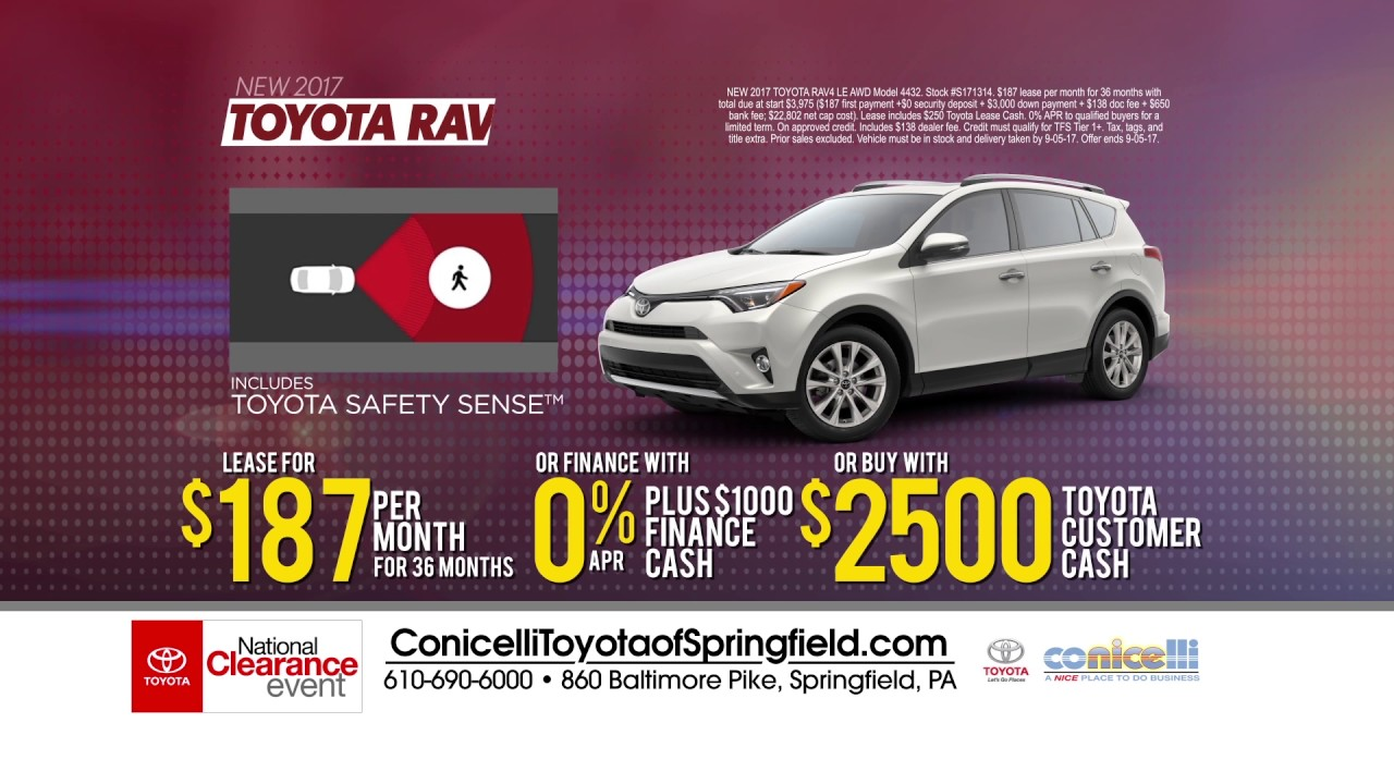 $147/month Camry U0026 $187/month RAV4 At Conicelli Toyota Of Springfield