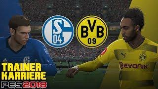 REVIERDERBY: SCHALKE 04 vs. BORUSSIA DORTMUND Trainer Karriere - Pro Evolution Soccer 2018