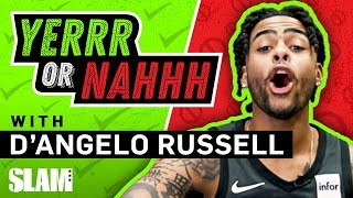 D'Angelo Russell's 2K Rating got him COMPETITIVE, has 🔥 for Karl-Anthony Towns | SLAM YERRR or NAHHH