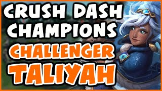 Challenger Taliyah Mid - DESTROY DASH COMPS | Vs Tuesday, Wiggily, Dardoch - League of Legends