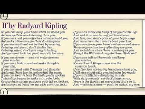 kipling if poem analysis