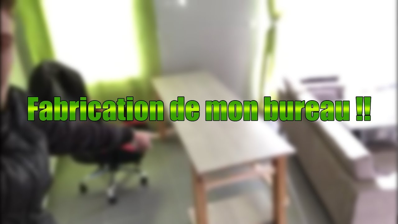 La fabrication de mon bureau gaming youtube