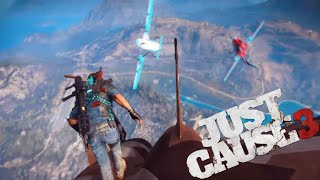 Plane from a Plane from a Plane :  Flying 3 Planes at once - Just Cause 3 Stunts