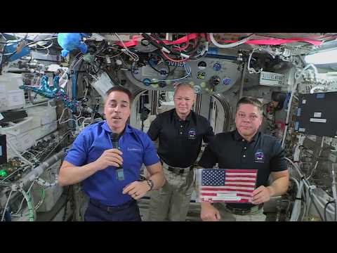 Independence Day Message from Astronauts in Space