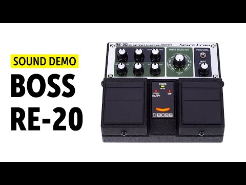 BOSS RE-20 Space Echo Sound Demo (no talking) with Novation Peak