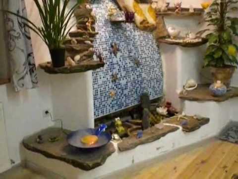 elfen zimmerbrunnen naturstein youtube. Black Bedroom Furniture Sets. Home Design Ideas
