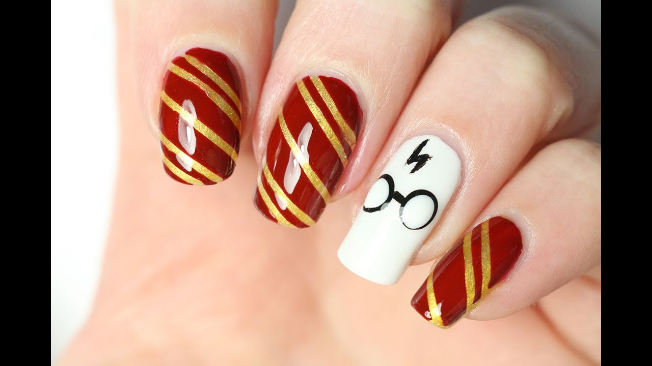 Un Nail Art Harry Potter Youtube