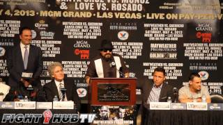 Ruben Guerrero flips out at the Mayweather vs Guerrero pre fight press conference